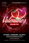 Valentine's Party Flyer Template by Dilanr