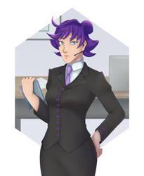 Backup Secretary by BlackThunder-chan