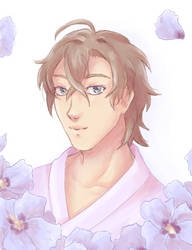 Gentaro  doodle by BlackThunder-chan