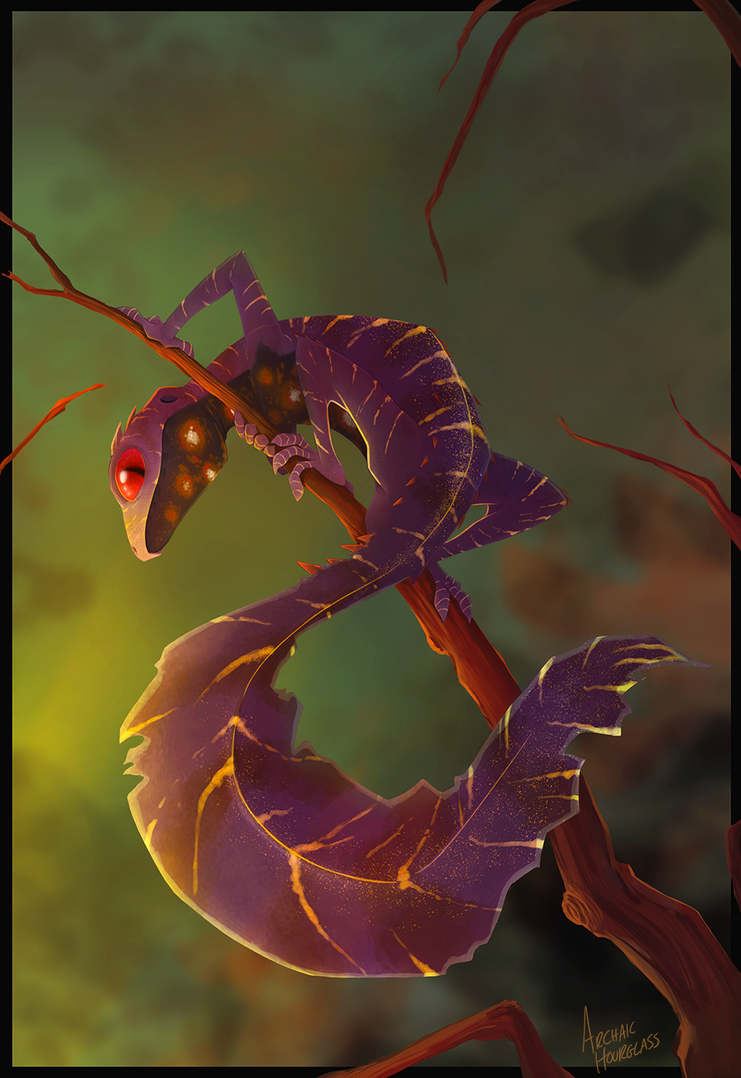 Leaf-tailed Gecko by ArchaicHourglass on DeviantArt