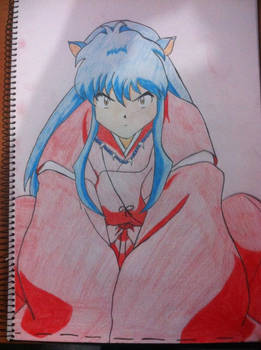 Inuyasha sitting in that oh so adorable position