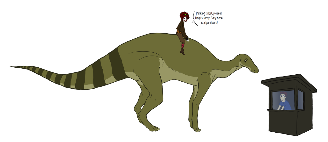 Is there an 'Edmontosaurus' parking space? by Kiptay on DeviantArt