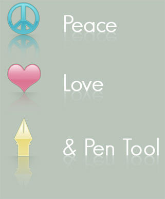 Peace, Love and Pen Tool ID by shebid