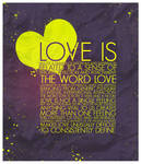 LOVE IS by shebid