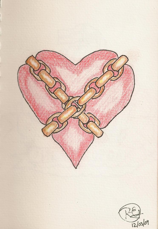 chained heart tattoo design by egould on deviantart. Black Bedroom Furniture Sets. Home Design Ideas