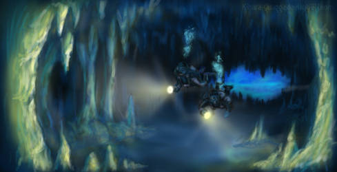 Water Cave - Speedpaint 2 by Kihara-Quagga