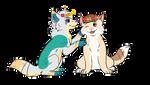 Puppy flower crowns