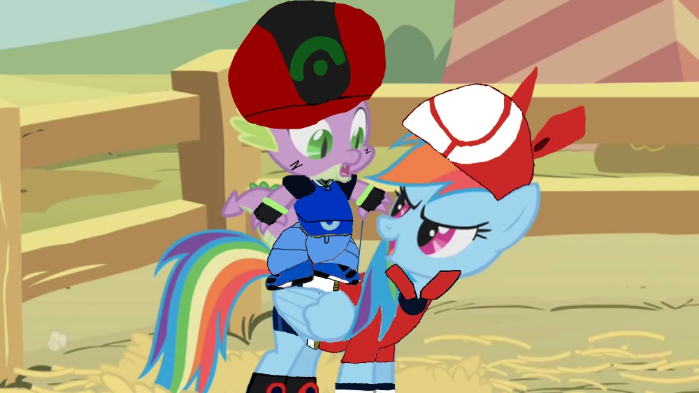 Spike And Rainbow Dash As Ash And May Request By Epiccartoonsfan On Deviantart