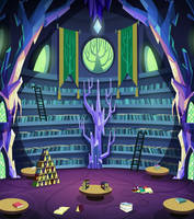 Twilight's Castle Library Background by EpicCartoonsFan