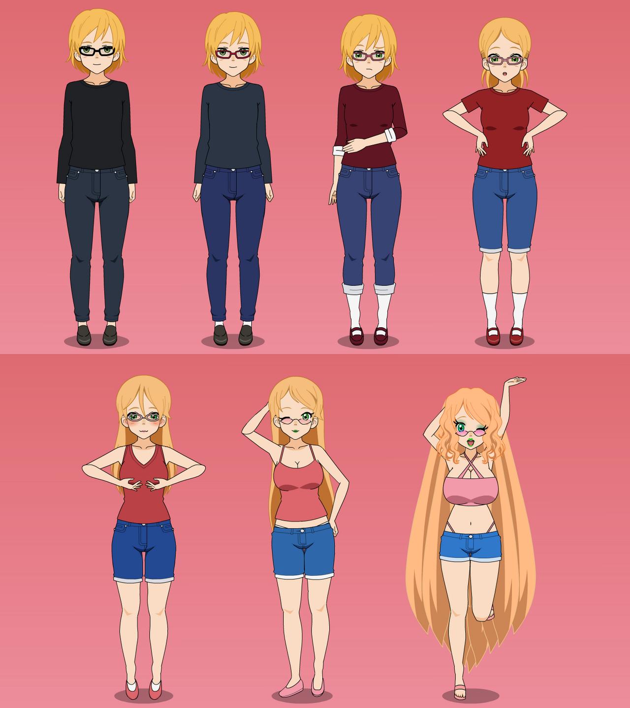 Bimbo transformation sequence