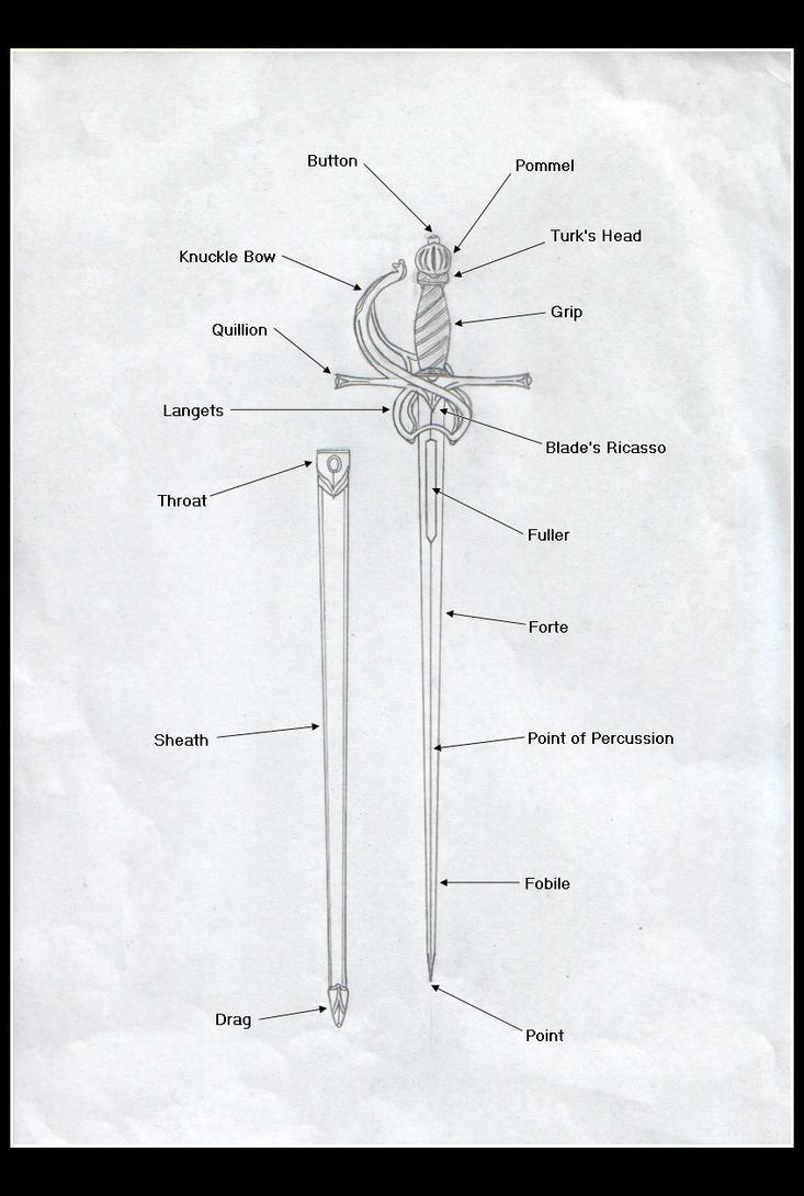 how to make a paper rapier sword