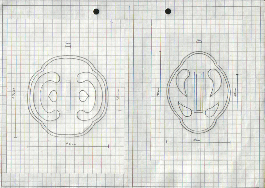 The Manga Tsuba Designs: Pt 3 by chioky