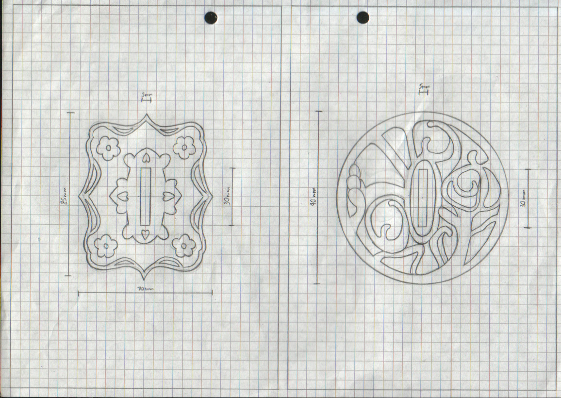 The Manga Tsuba Designs: Pt 5 by chioky
