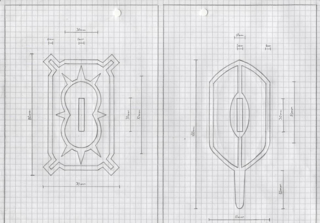 Zanpakuto Tsuba Designs pt 36  Yachiru Kusajishi Zanpakuto