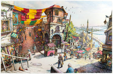 Istanbul Impression in Colour by LotharZhou
