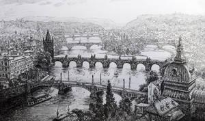 Prague's bridges by LotharZhou