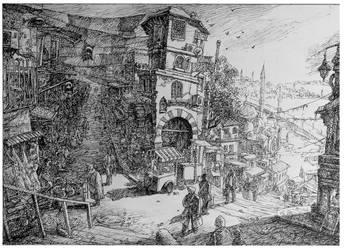 Istanbul rough sketch by LotharZhou