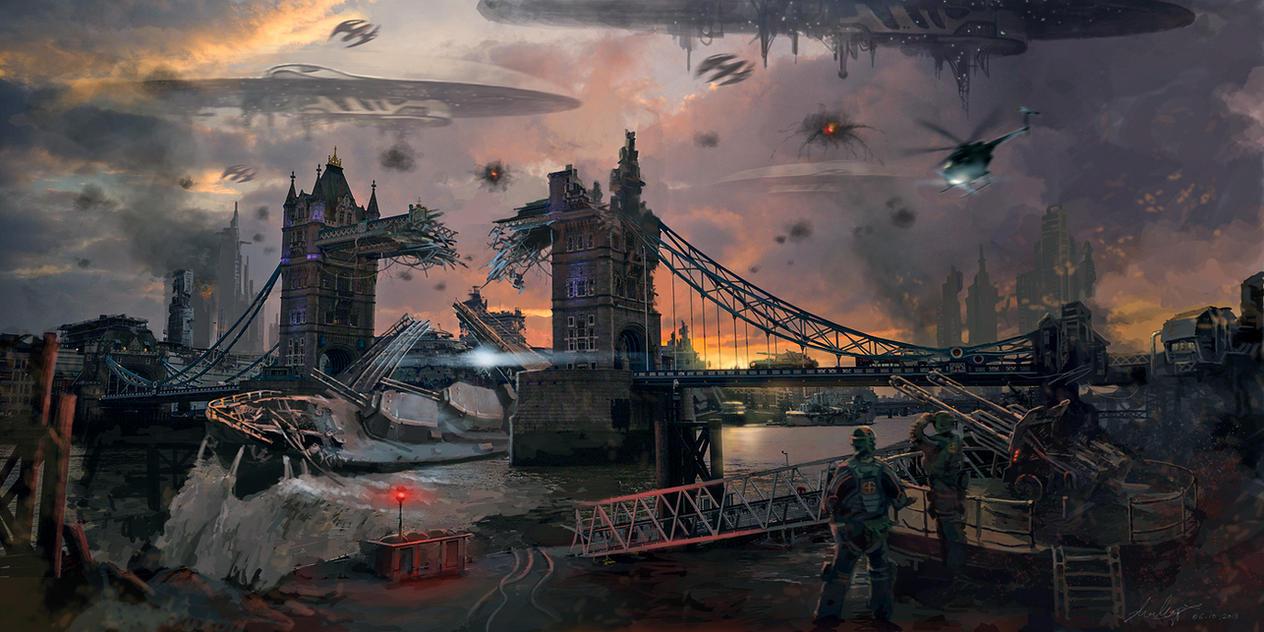 London Downfall by LotharZhou