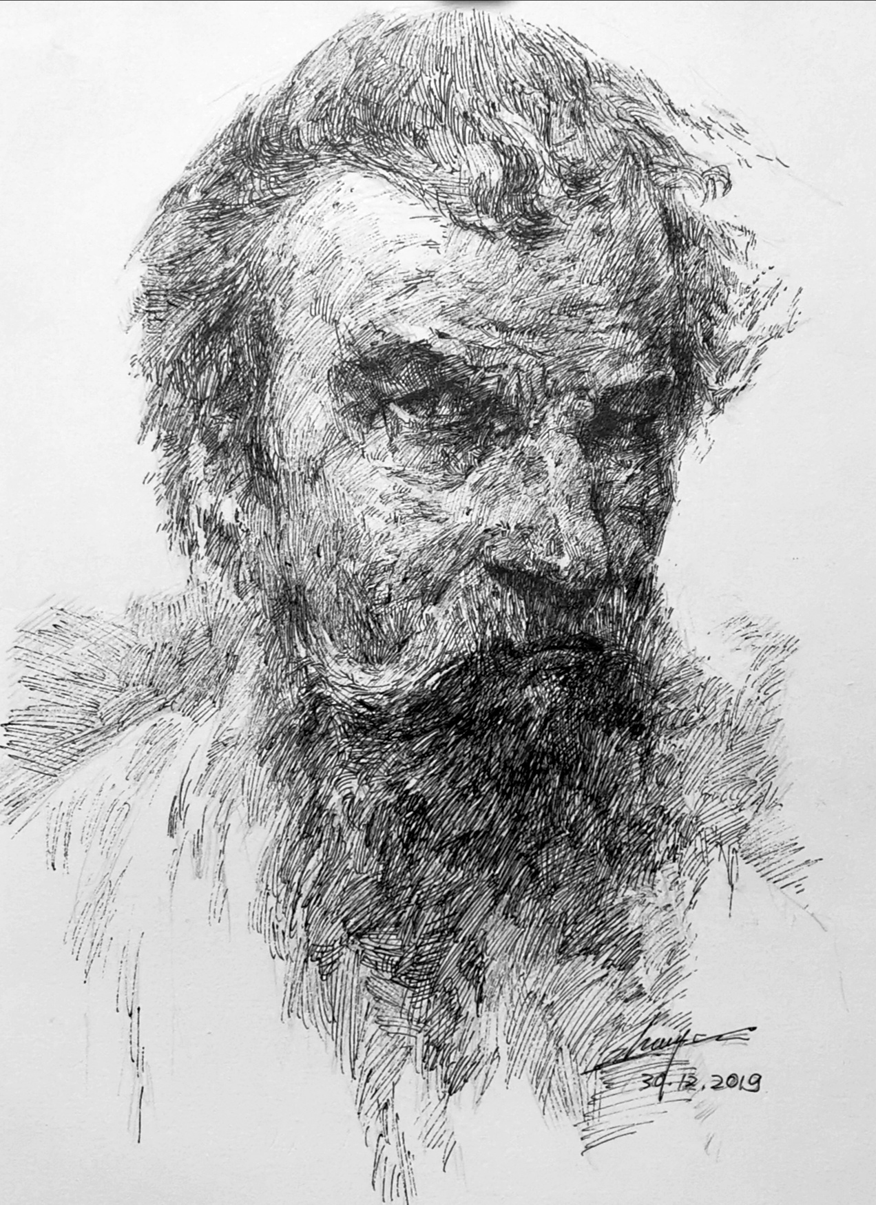 Study of Repin's painting