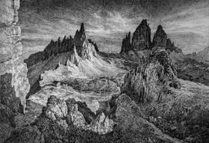Tre Cime di Lavaredo of Dolomites