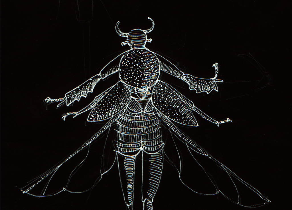 taurus dung beetle man by 22ndCLOWN