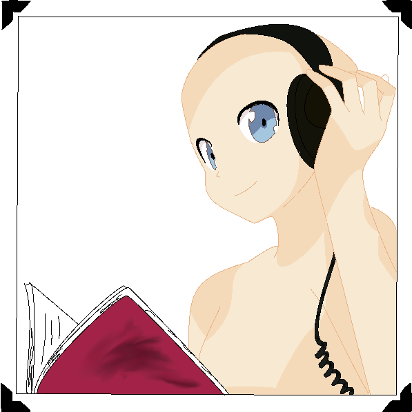 Anime Girl With Headphones Base By BrokeWingsBases On