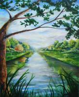 by the lake by Starv-n-Artist