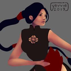 01-10 Fire Dancer WIP by yevvie