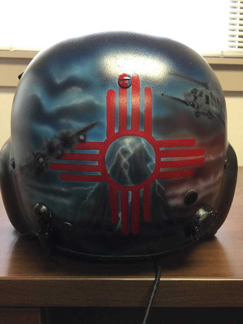Airbrushed Helmet 2 by Defoedezign