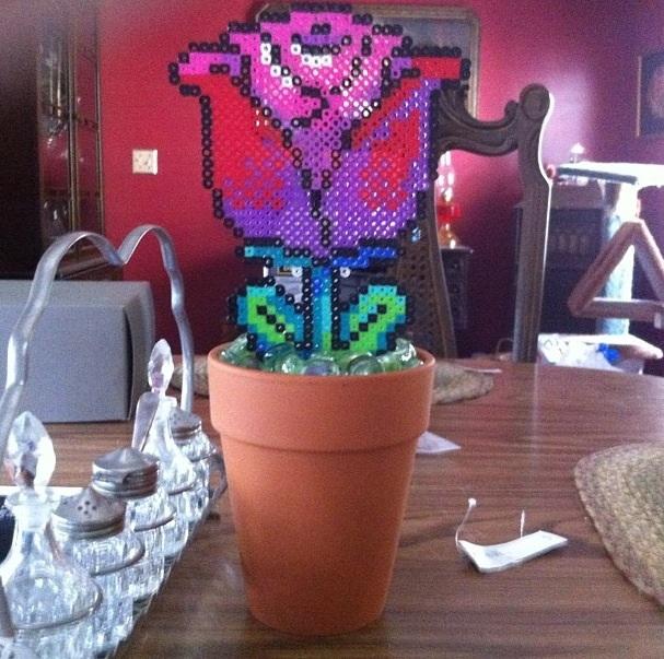 Flower Pot Perler Bead By Thycove On Deviantart