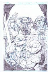 tmnt #100 variant cover pencils