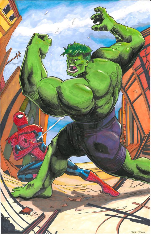 Spidy v Hulk by Deviator77