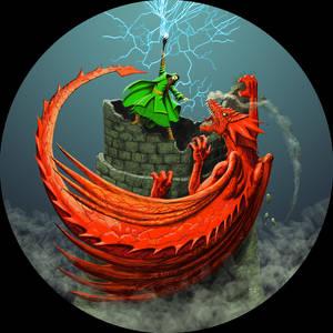 Wizard vs Red Dragon