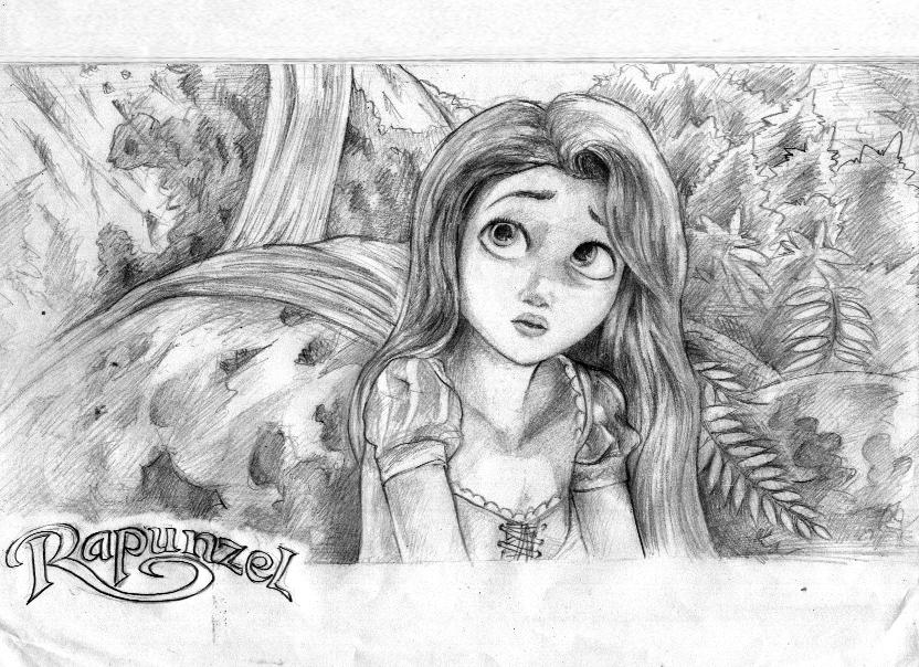 Disney Rapunzel Drawing Www Pixshark Com Images Galleries With A Bite
