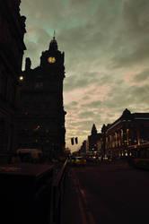 City at night - Edinburgh at night by KarolinaBiel