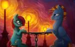 Milkshakes in the Lantern Light [Commission]