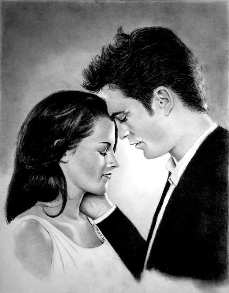 Bella and Edward by joniwagnerart