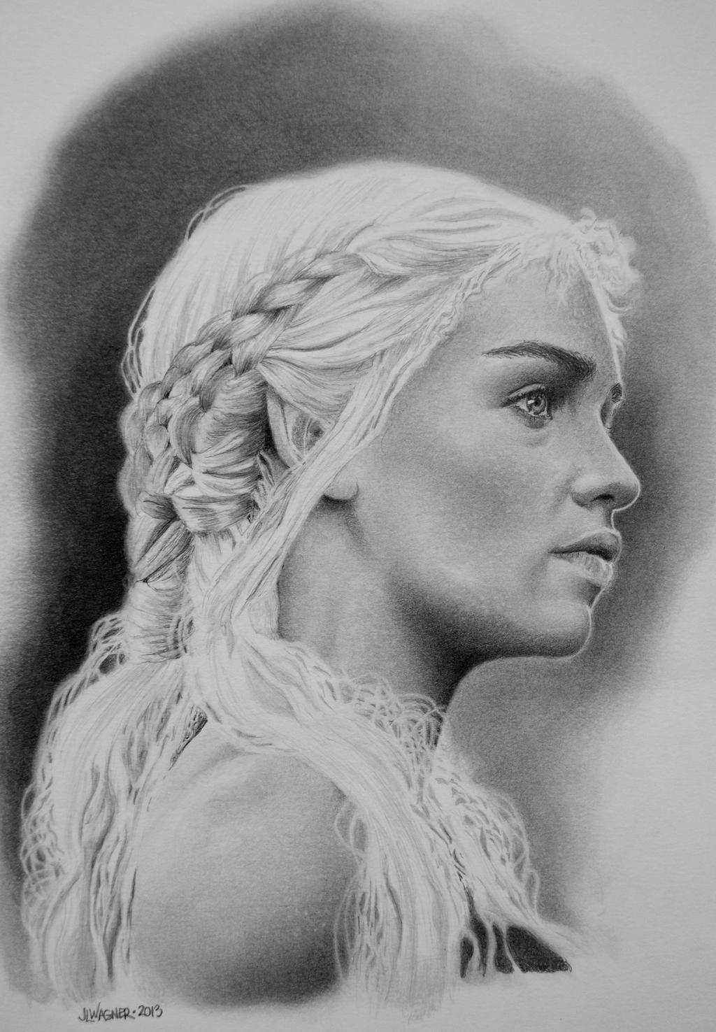 Portrait of Khaleesi by joniwagnerart