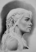 Portrait of Khaleesi by joniwagnerart