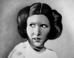 Pretty Leia by joniwagnerart