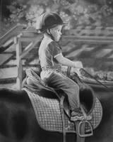 The Littlest Equestrian by joniwagnerart