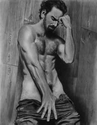 Bare Naked Gentleman by joniwagnerart