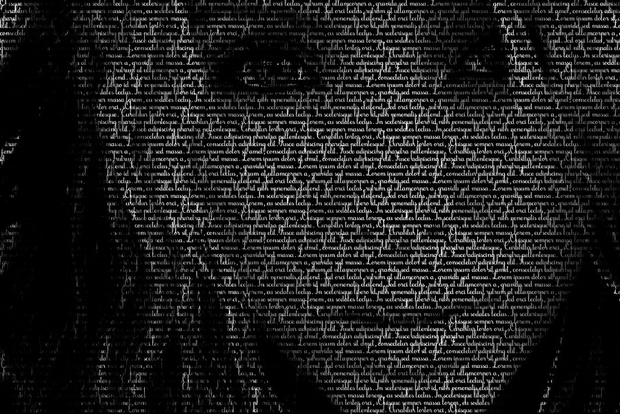 Myself in typographic form by Lisa-Marie-Eva