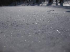 closer look at snow