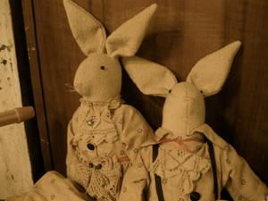antique bunny dolls