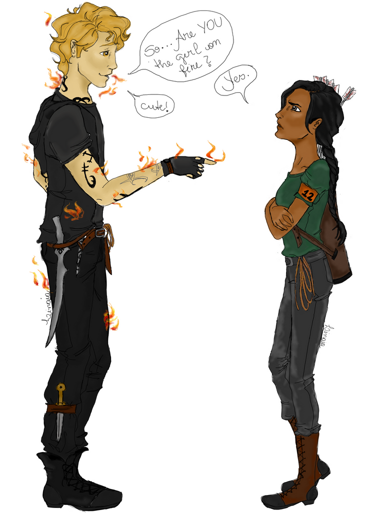 The boy and the girl on fire - Crossover - by Linaia