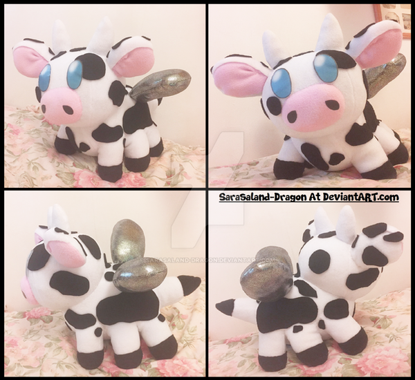 Commission Small Bee Cow Plush Doll By Sarasaland Dragon On Deviantart
