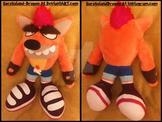 COMMISSION: Small Fake Crash Plush Doll by Sarasaland-Dragon