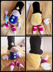 Commission: Large Magician Plush Doll by Sarasaland-Dragon