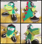 Commission: Small Vector the Crocodile Plush Doll by Sarasaland-Dragon